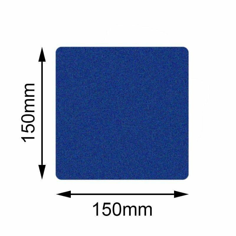 Blå golvmarkering