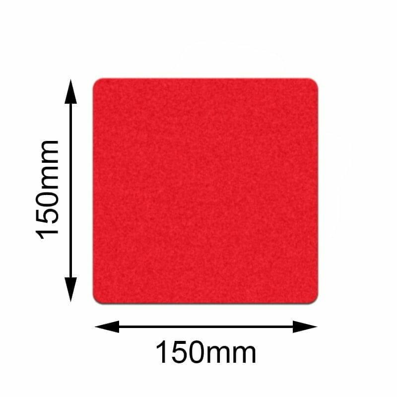 Röd golvmarkering