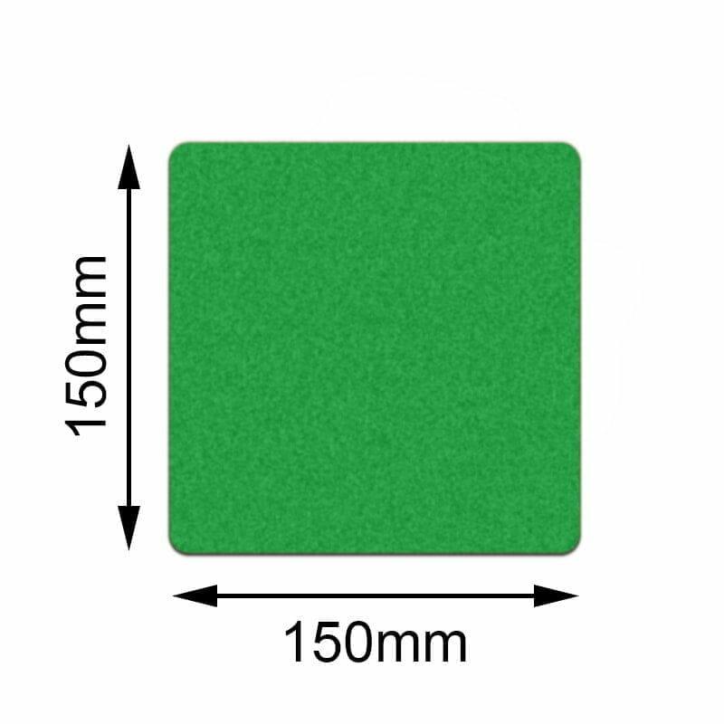 Grön golvmarkering